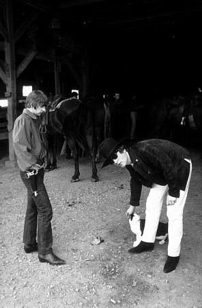 John and Ringo in the Barn after riding.
